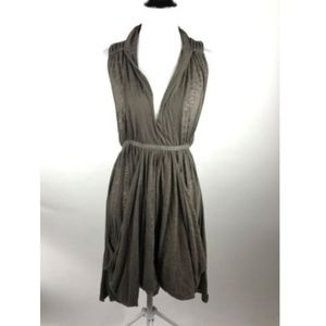 Free People FP Beach Olive Green Burnout Dress